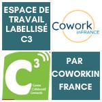 Espace de travail labellisé C3 par CoworkinFrance